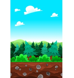 Green wood tileable sides vector