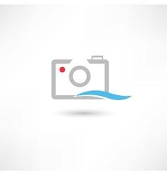 Grey line camera vector image vector image