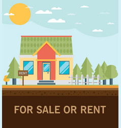House for rent flat volume vector