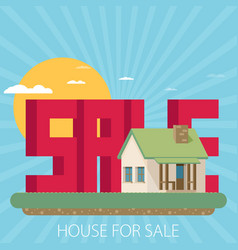 House for sale flat vector