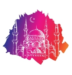 Islamic mosque colorful background vector