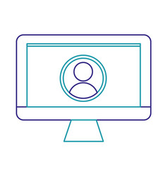 isolated computer design vector image