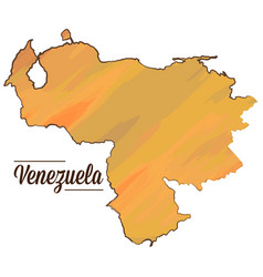 isolated venezuelan map vector image vector image