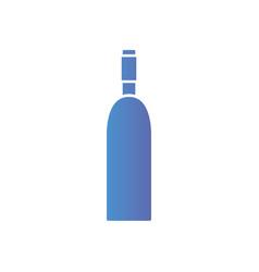 Line wine bottle beverage to celebration vector