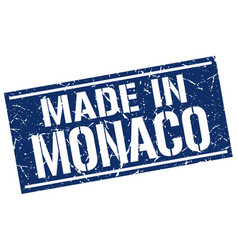 Made in monaco stamp vector