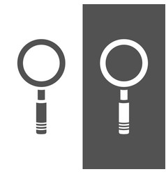 magnifying glass icon on a dark and white vector image vector image