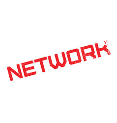 network rubber stamp vector image