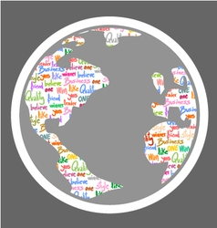Nice world symbol vector image