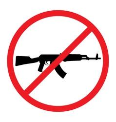No guns allowed sign no weapons sign vector