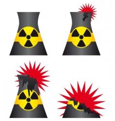 Nuclear power plant meltdown vector