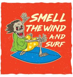original surfing poster vector image vector image