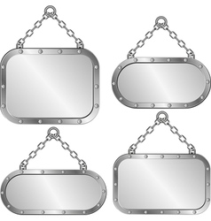 plaques vector image