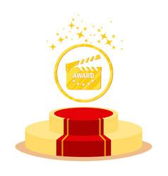 Podium for cinema award vector