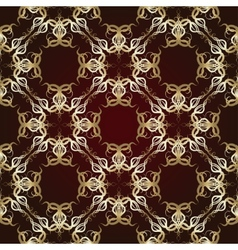 Seamless pattern on maroon background vector