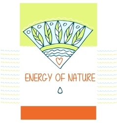 Template logo the energy of nature the vector