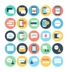 Text Messaging Flat Icons 1 vector image