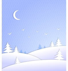 Winter background scene ice cold vector