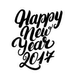 Happy new year 2017 hand written lettering for vector