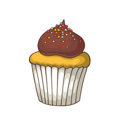 hand drawn dessert vector image
