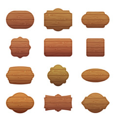 Set of different shapes with wooden vector