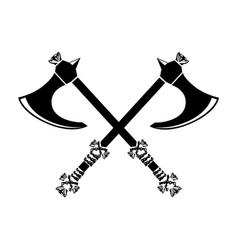 Ax silhouette vector