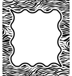 zebra skin texture vector image