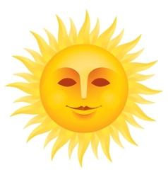 Sun face vector image