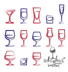 Glasses collection vector