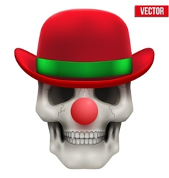 Human skull clown front view vector
