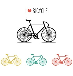 Set of bicycles vector