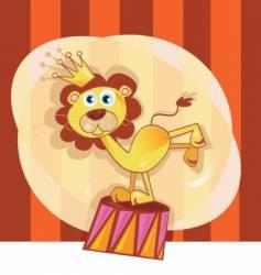 circus lion vector image