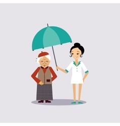 Senior medical insurance vector