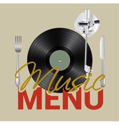 music menu vector image