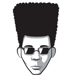 Afro man vector image
