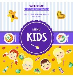 Baby food menu flat poster vector