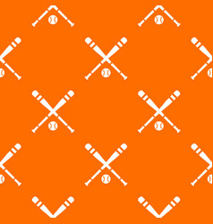Baseball bat and ball pattern seamless vector