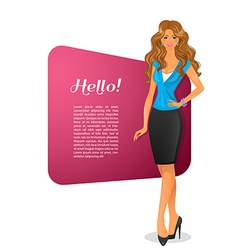 Beautiful woman character image vector image vector image