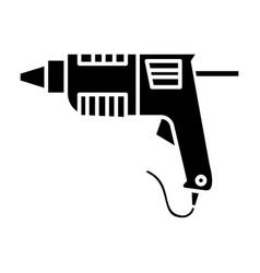 Caulk gun - glue gun icon vector