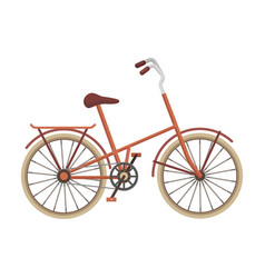 Children s bicycle with low frame and luggage vector