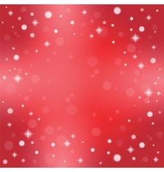 Christmas snowflakes on a red background vector image vector image