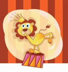 circus lion vector image vector image