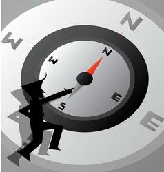 Compass life wallpaper vector