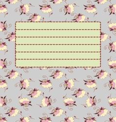 Cute school notebook cover postcard template vector