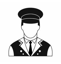 Doorman black simple icon vector