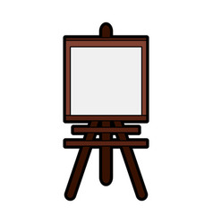 Easel paint or painting icon image vector