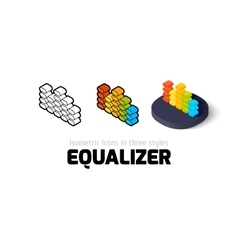 Equalizer icon in different style vector image