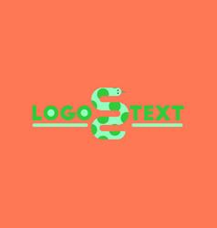 flat icon on background snake logo vector image vector image