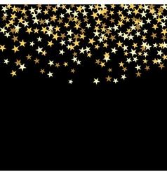 gold confetti background vector image