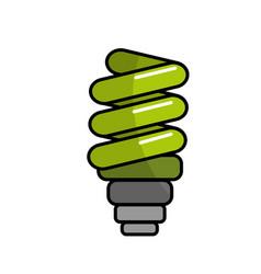Green save bulb energy icon vector