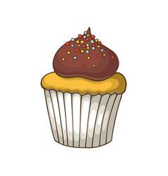 hand drawn dessert vector image